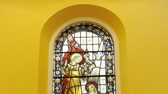 The Annunciation – Stained Glass Window in the Sanctuary