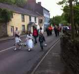 Marian procession moves through Glanmire Village, May 2011