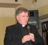 Parishioners say farewell to Fr Noel.