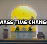 CHANGES to Mass times
