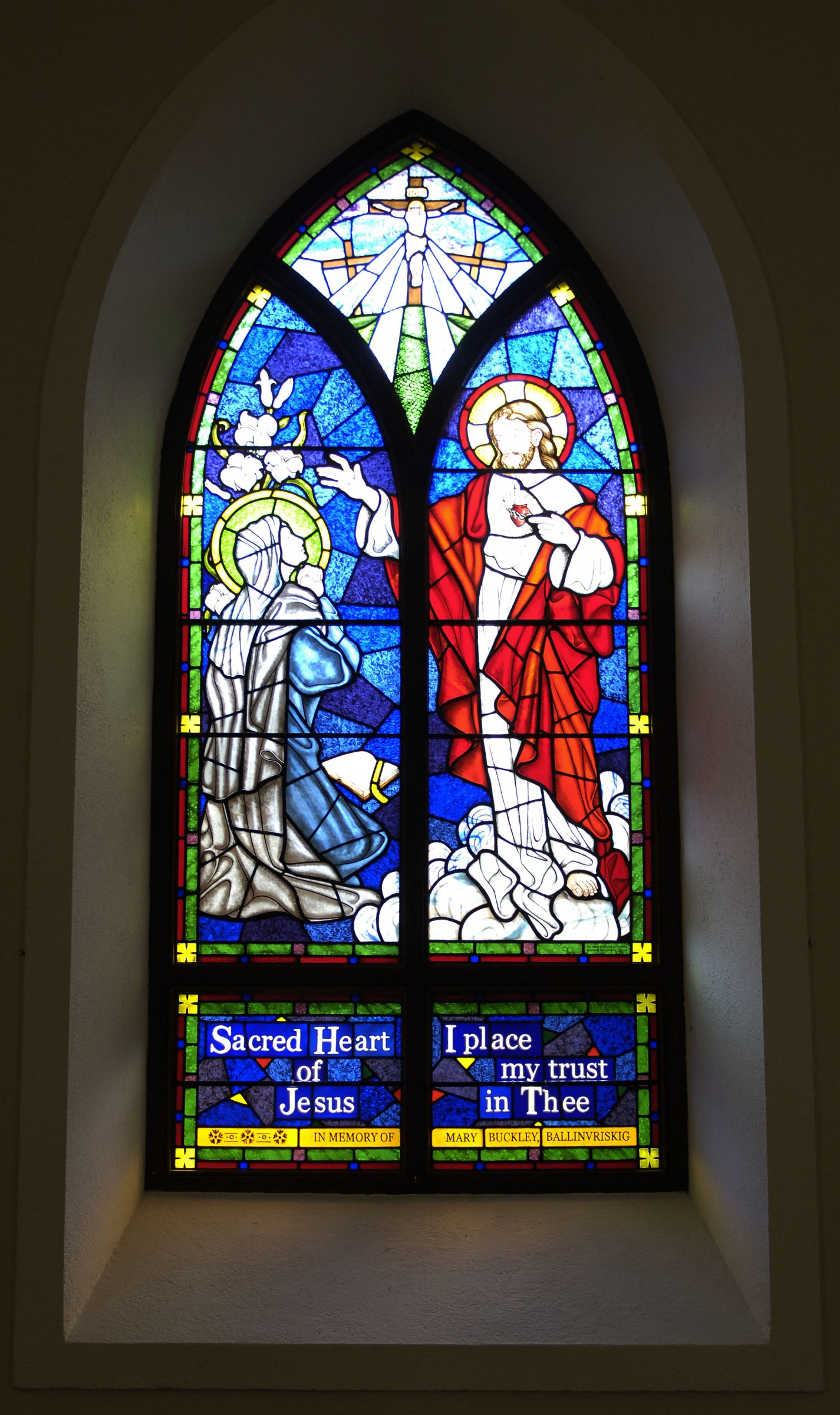 Stained glass window in st michael s church glanmire for Stained glass window church
